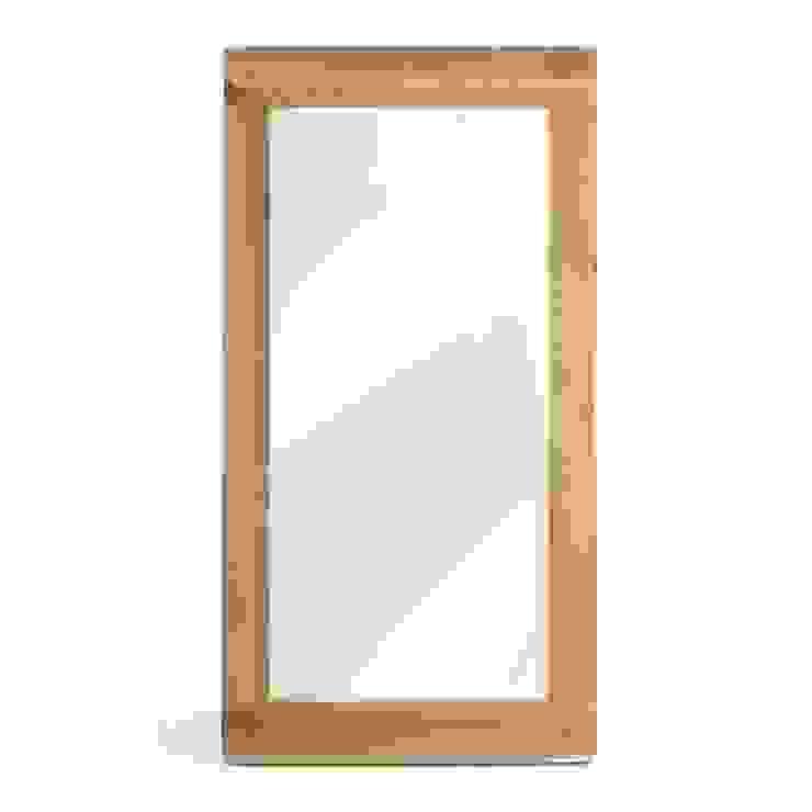 Bonsoni Wallsend Reclaimed Oak Wall Mirror - Hand Built Furniture Using High-Grade Oak par Bonsoni.com Classique