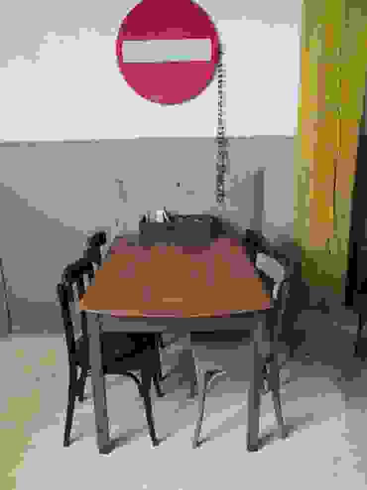 Oude tafel als eettafel of bureau, Antraciet van Were Home Rustiek & Brocante