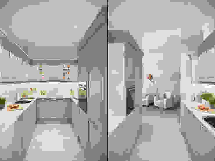 Квартира в ЖК <q>Суоми</q> Кухни в эклектичном стиле от Студия дизайна интерьера Маши Марченко Эклектичный