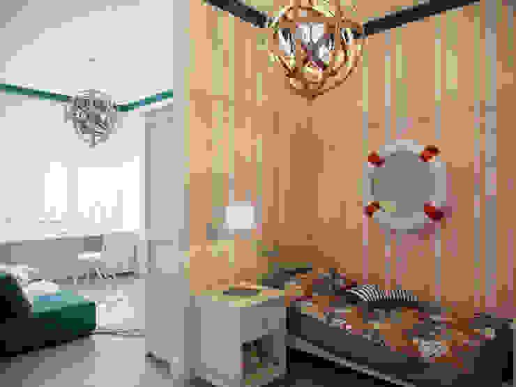 Квартира в ЖК <q>Суоми</q> Детские комната в эклектичном стиле от Студия дизайна интерьера Маши Марченко Эклектичный