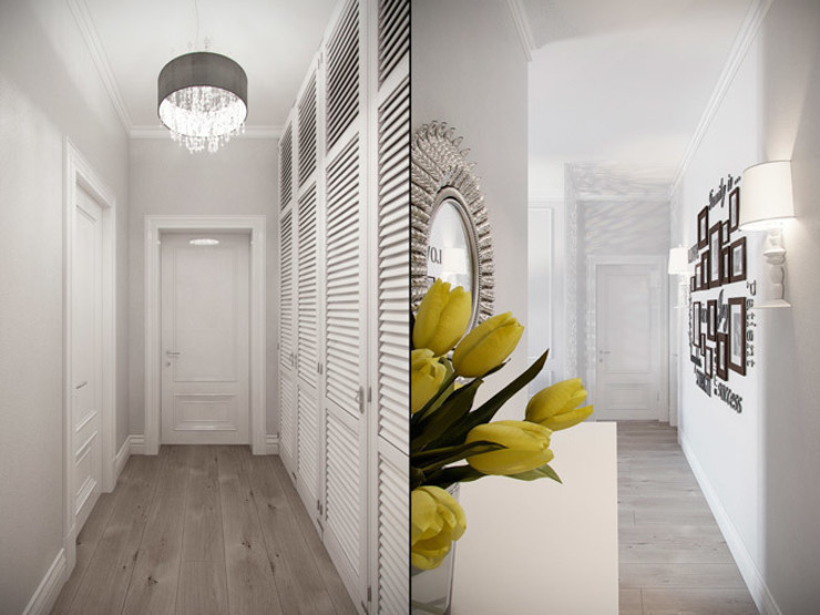 Квартира в ЖК <q>Суоми</q> Коридор, прихожая и лестница в эклектичном стиле от Студия дизайна интерьера Маши Марченко Эклектичный