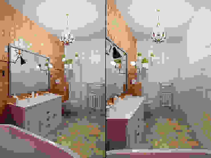 Квартира в ЖК <q>Суоми</q> Ванная комната в эклектичном стиле от Студия дизайна интерьера Маши Марченко Эклектичный