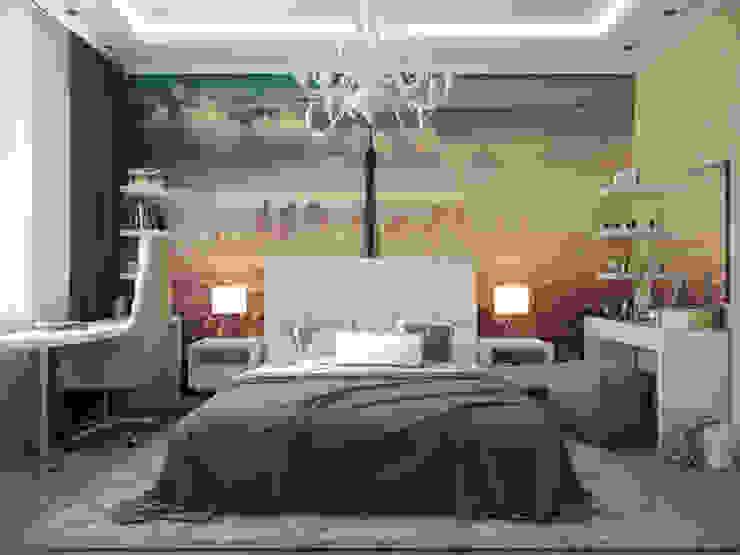 """Квартира в ЖК """"Вива"""" Спальня в эклектичном стиле от Студия дизайна интерьера Маши Марченко Эклектичный"""
