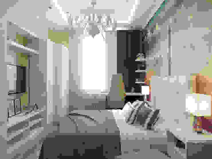 Квартира в ЖК <q>Вива</q> Спальня в эклектичном стиле от Студия дизайна интерьера Маши Марченко Эклектичный