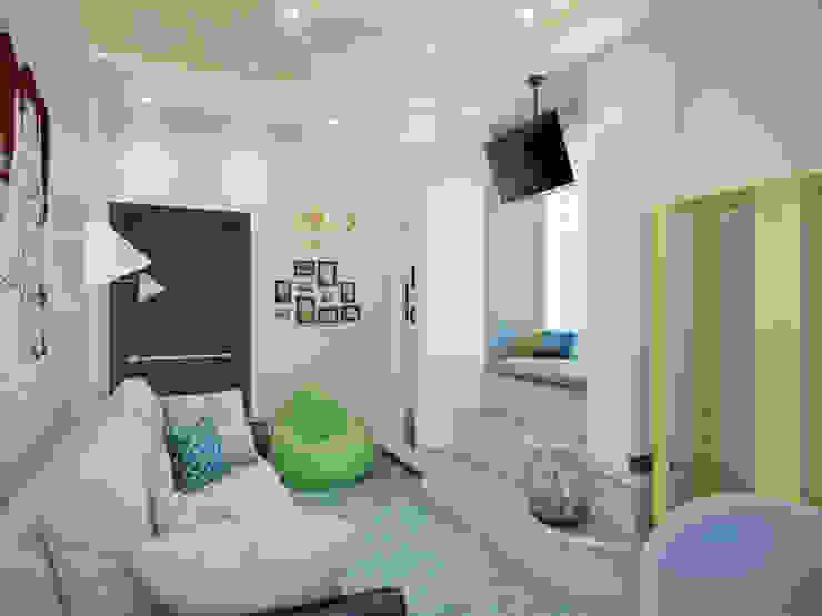 Квартира в ЖК <q>Вива</q> Детские комната в эклектичном стиле от Студия дизайна интерьера Маши Марченко Эклектичный