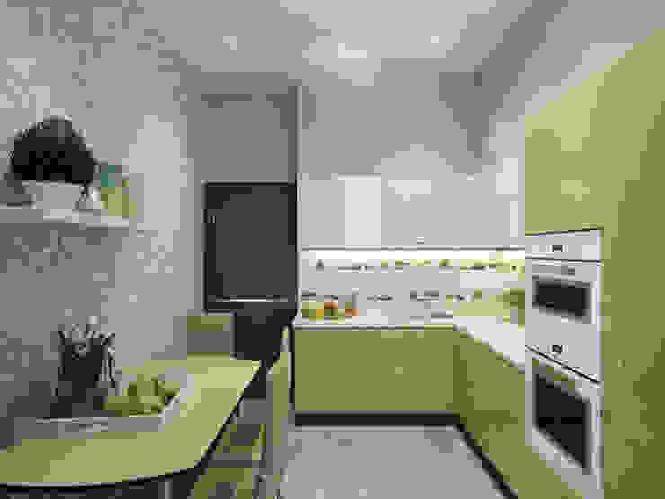 Квартира в ЖК <q>Вива</q> Кухни в эклектичном стиле от Студия дизайна интерьера Маши Марченко Эклектичный
