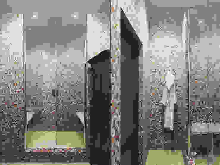 Квартира в ЖК <q>Вива</q> Ванная комната в эклектичном стиле от Студия дизайна интерьера Маши Марченко Эклектичный