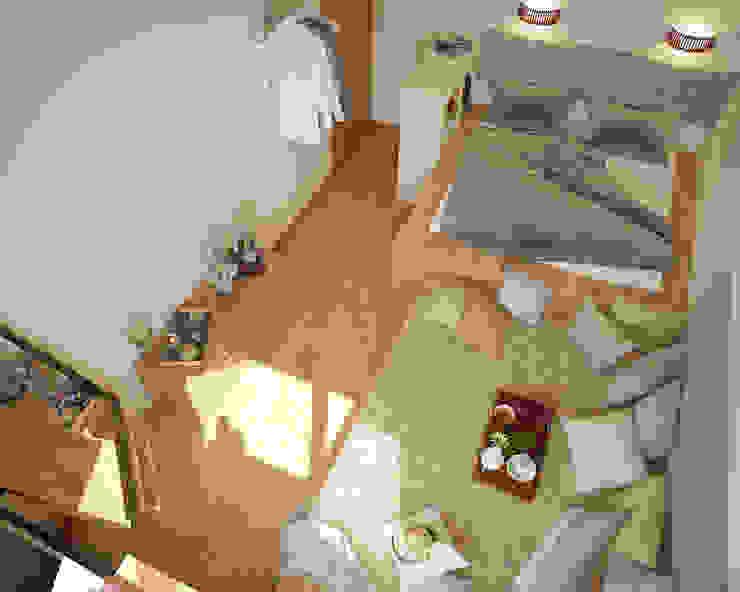 Экоквартира в Тропарево Спальня в стиле минимализм от «Студия 3.14» Минимализм