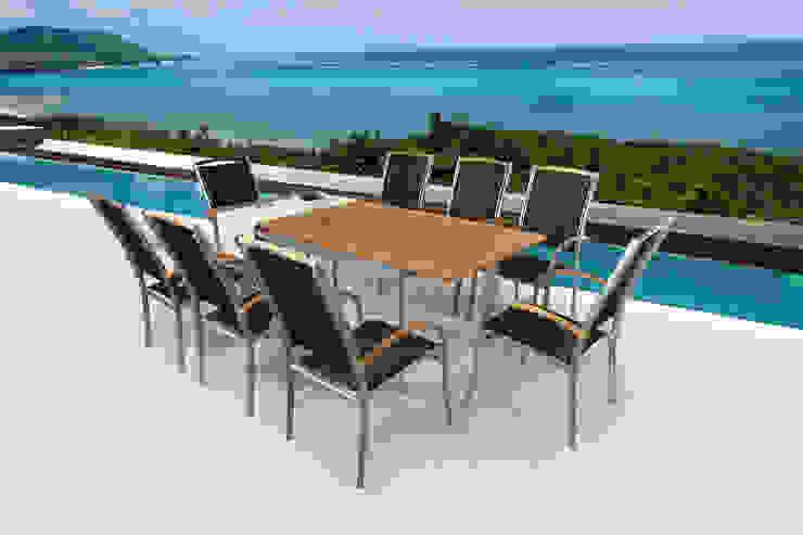 Combinación de Teca y Aluminio de SYD Muebles de Jardin Mediterráneo