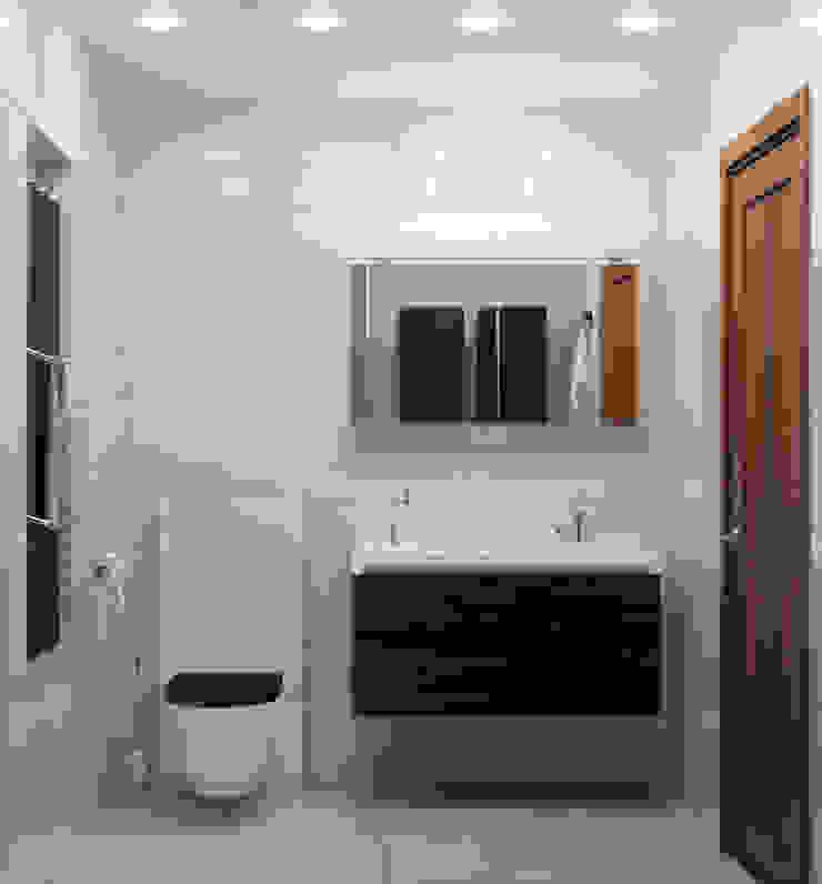 Двухкомнатная квартира для холостяка Ванная комната в эклектичном стиле от Center of interior design Эклектичный