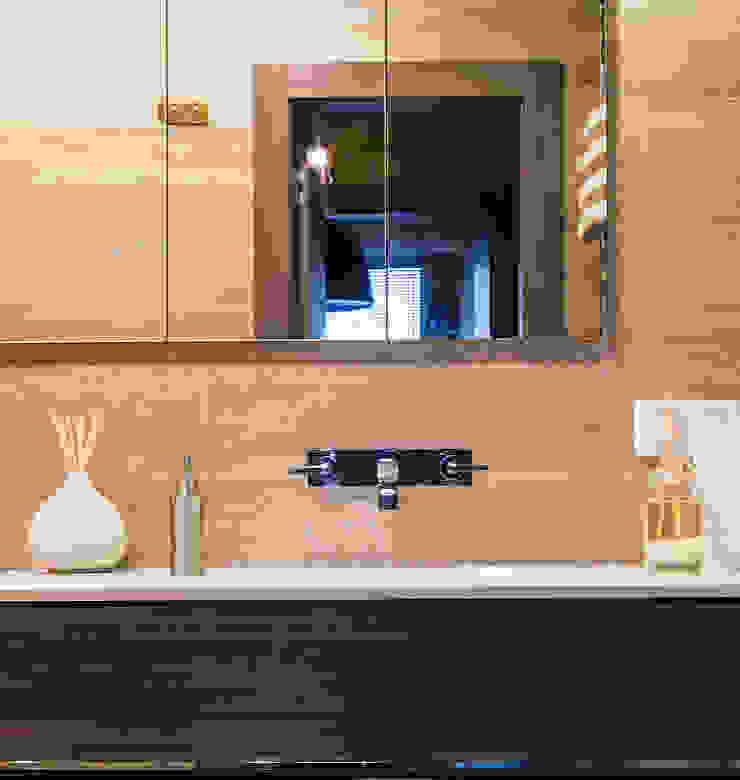 Квартира в ЖК Новая Скандинавия Ванная комната в скандинавском стиле от projectorstudio Скандинавский