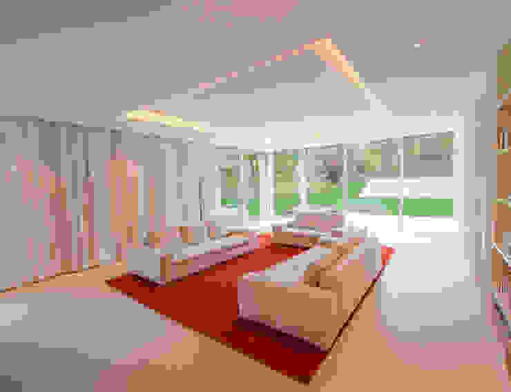 EINFAMILIENHAUS KLOSTERNEUBURG | AUT Moderne Wohnzimmer von Moser Architects Modern