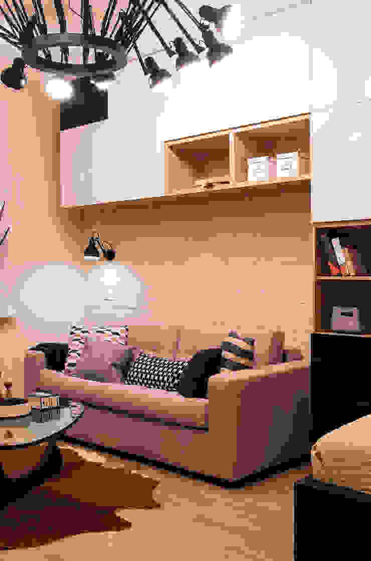 квартира в ЖК Семь столиц Гостиная в стиле модерн от projectorstudio Модерн