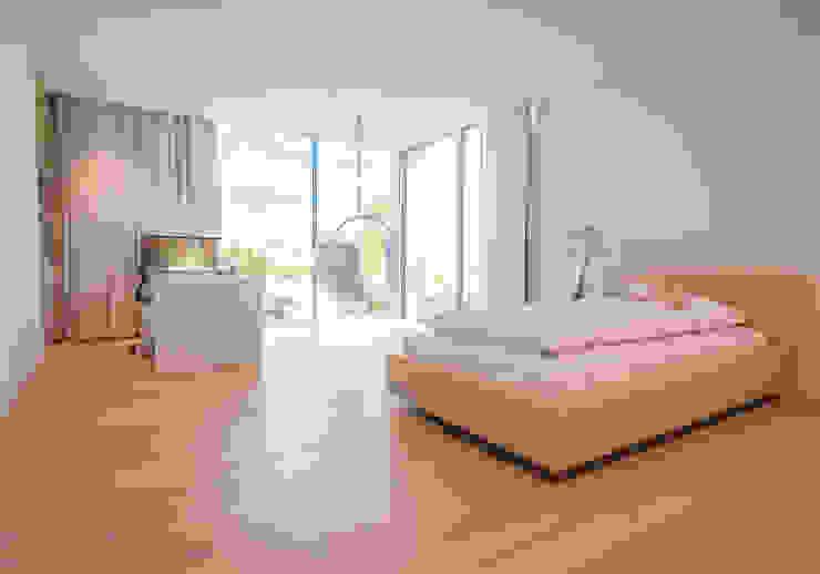 EINFAMILIENHAUS KLOSTERNEUBURG | AUT Moser Architects Moderne Schlafzimmer