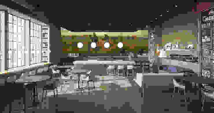 Дизайн кафе в стиле лофт: современные идеи и фото 2015 Гостиная в стиле лофт от Olga's Studio Лофт