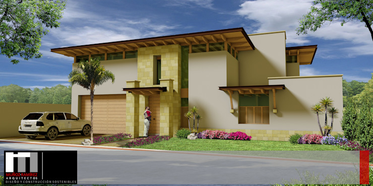 Casa Vista Real Casas modernas de Arquitectos Muñoz Ramírez Moderno