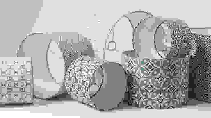 cotton and linen hand screen printed lampshades: scandinavian  by akin & suri, Scandinavian