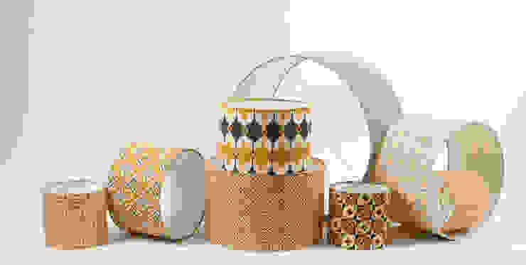 Hand screen printed lampshades: scandinavian  by akin & suri, Scandinavian