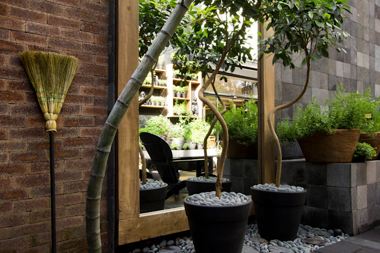 Oficinas y Tiendas de estilo  por Palimanan Revestimentos Naturais,