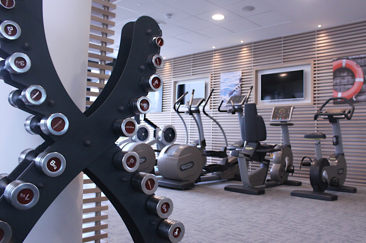 Home Gym Moderner Fitnessraum von Raw Corporate Health Modern