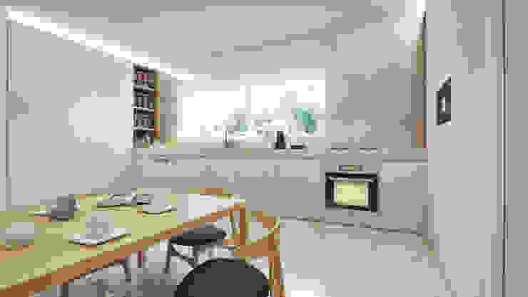 Casa em Lavra, Matosinhos Cozinhas minimalistas por ASVS Arquitectos Associados Minimalista