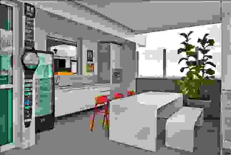 Cassio Gontijo Arquitetura e Decoração Modern Terrace