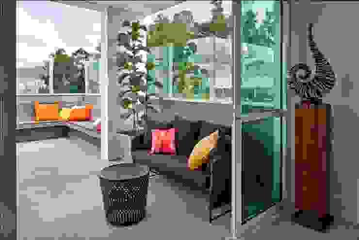 Terrasse de style  par Cassio Gontijo Arquitetura e Decoração, Moderne
