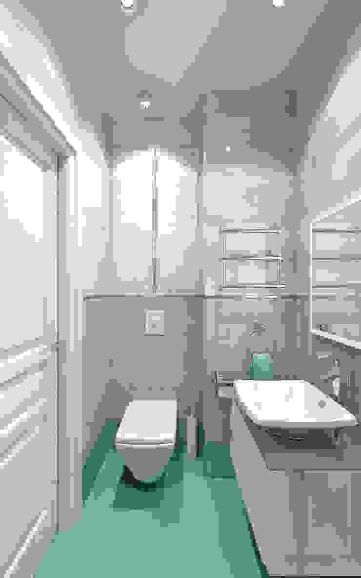 Санузел гостевой Ванная комната в эклектичном стиле от Aledoconcept Эклектичный