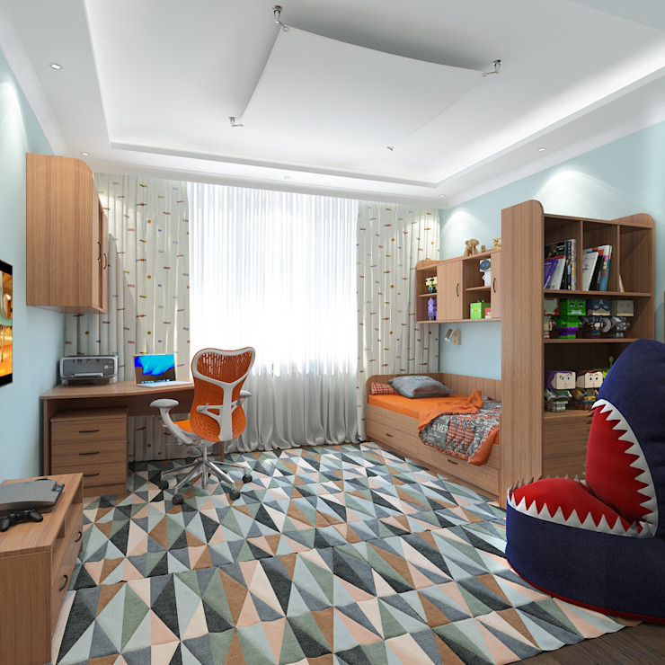 Детская мальчика Детские комната в эклектичном стиле от Aledoconcept Эклектичный