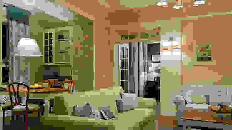 La provenza Italiana - Design degli interni della Villa a Rapallo Soggiorno in stile mediterraneo di NG-STUDIO Interior Design Mediterraneo