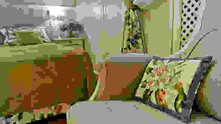 La provenza Italiana - Design degli interni della Villa a Rapallo Camera da letto in stile mediterraneo di NG-STUDIO Interior Design Mediterraneo