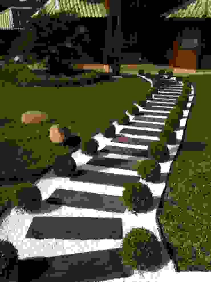 Placa Cimentícia imitando Madeira 1x30 Jardins rústicos por DECOR PEDRAS PISOS E REVESTIMENTOS Rústico