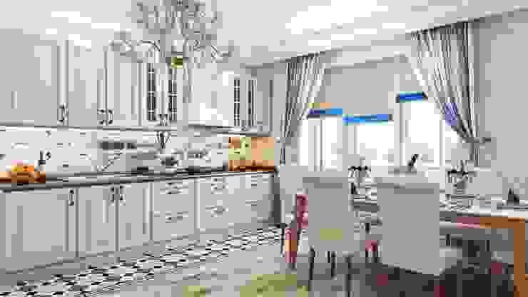 Квартира. Озерки.: Кухни в . Автор – Студия дизайна Elena-art,