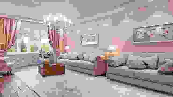 Квартира. Озерки. Студия дизайна Elena-art Гостиная в классическом стиле