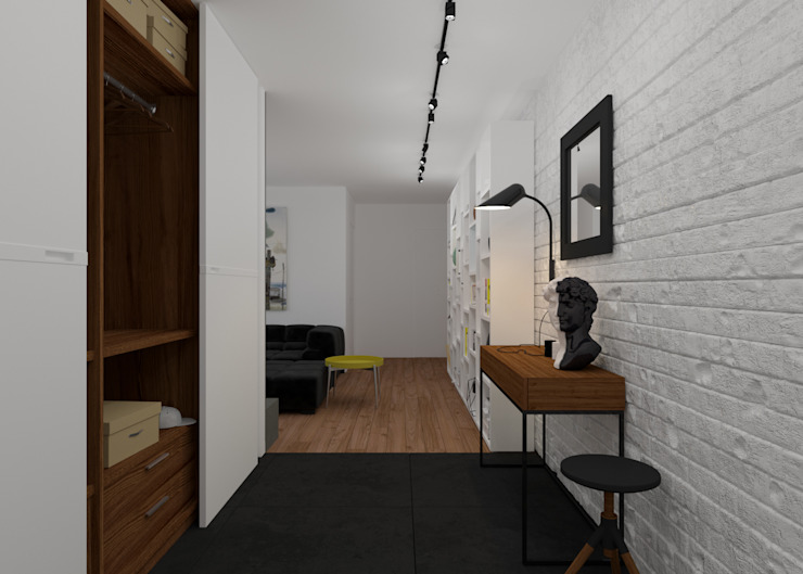3D GROUP Minimalist corridor, hallway & stairs