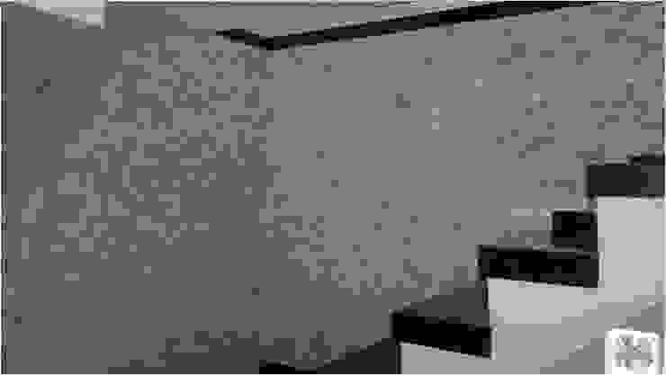 Mosaico de São Tomé Branco Paredes e pisos modernos por DECOR PEDRAS PISOS E REVESTIMENTOS Moderno