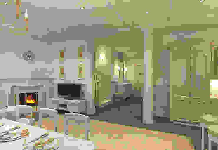 Гостиная, холл Aledoconcept Гостиная в классическом стиле