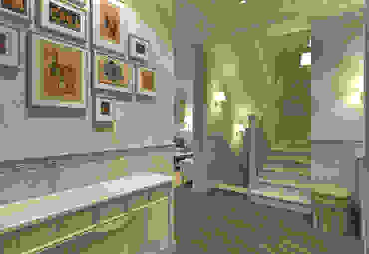 Прихожая, лестница Aledoconcept Коридор, прихожая и лестница в классическом стиле