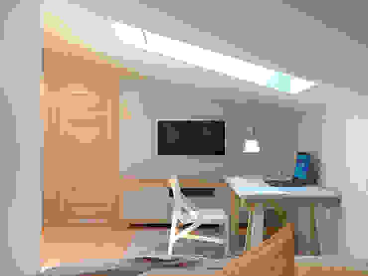 Комната на мансарде Aledoconcept Спальня в скандинавском стиле