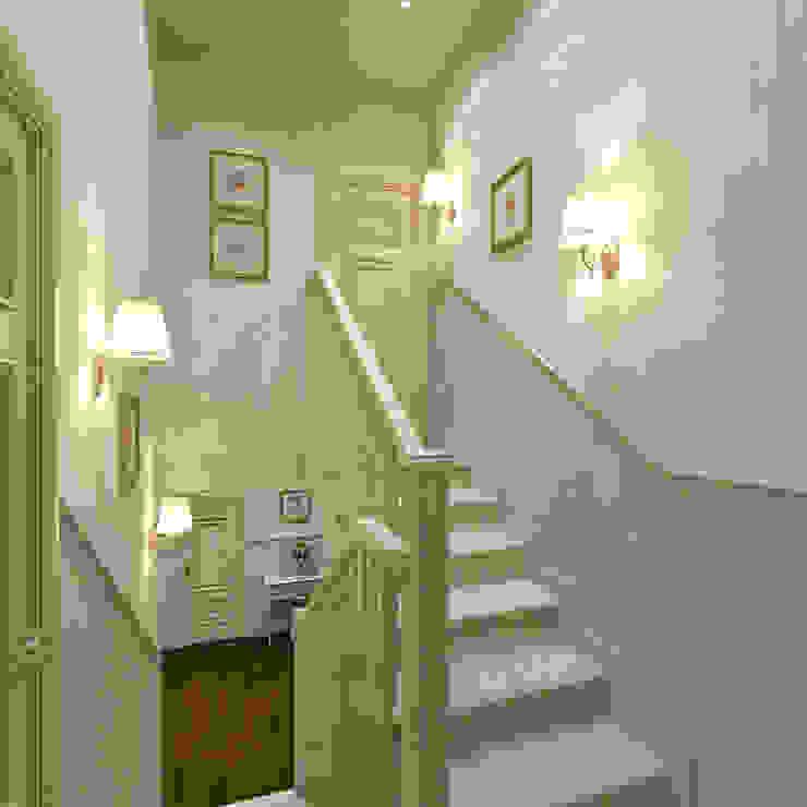 Лестница на мансарду Aledoconcept Коридор, прихожая и лестница в классическом стиле