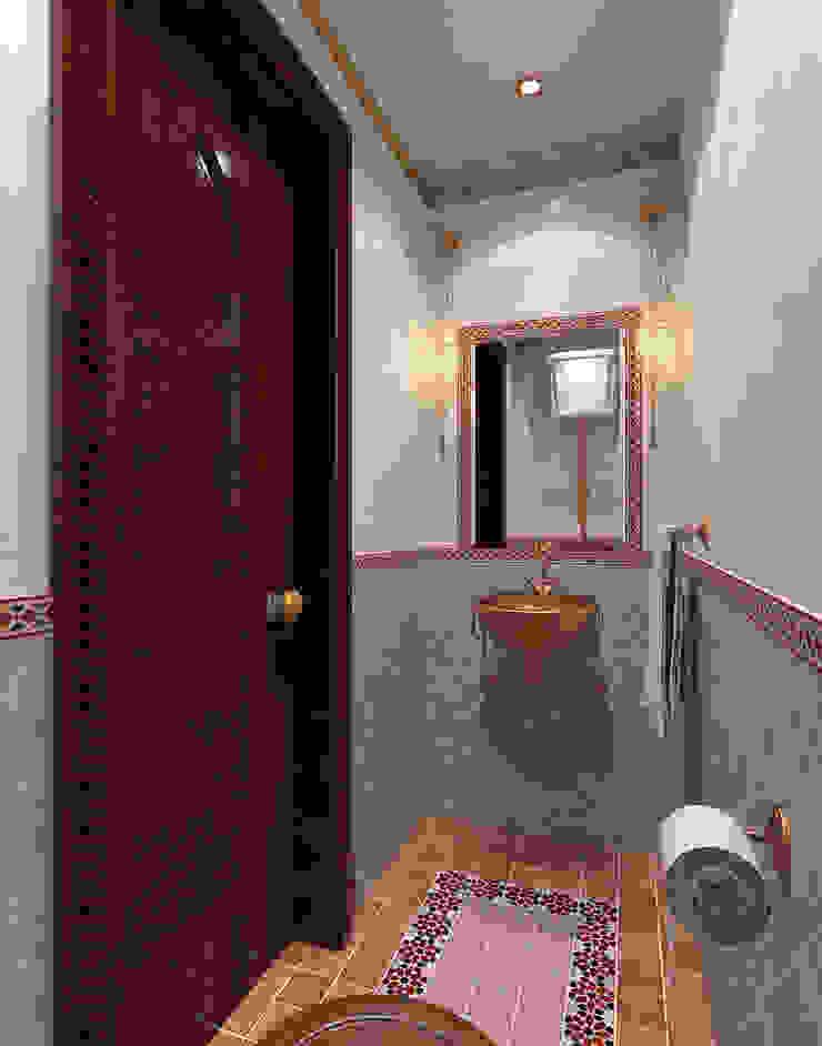 Санузел в цокольном этаже Aledoconcept Ванная в азиатском стиле