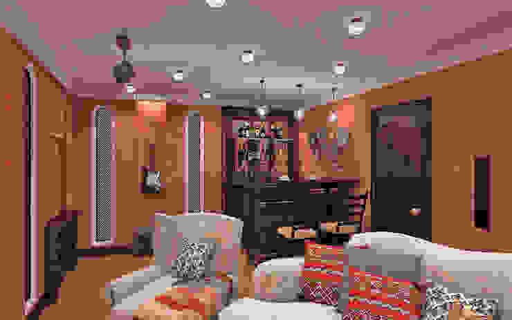 Комната отдыха Aledoconcept Медиа комната в азиатском стиле