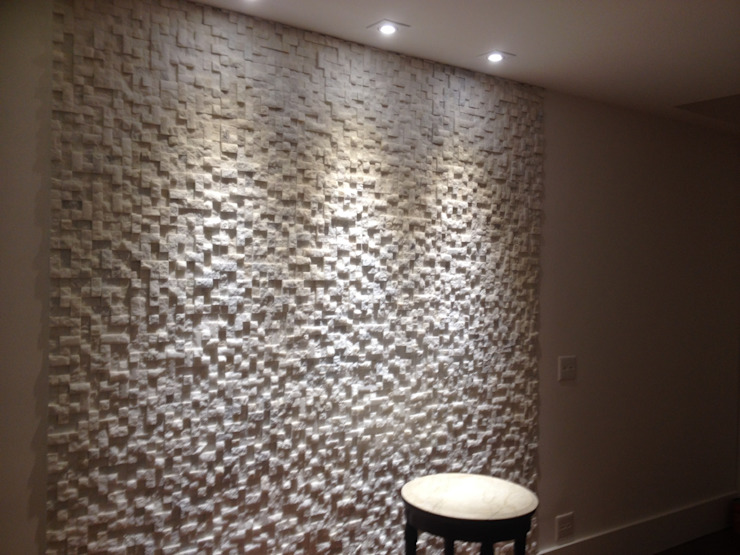 Mosaico de Mármore Branco Salas de estar modernas por DECOR PEDRAS PISOS E REVESTIMENTOS Moderno