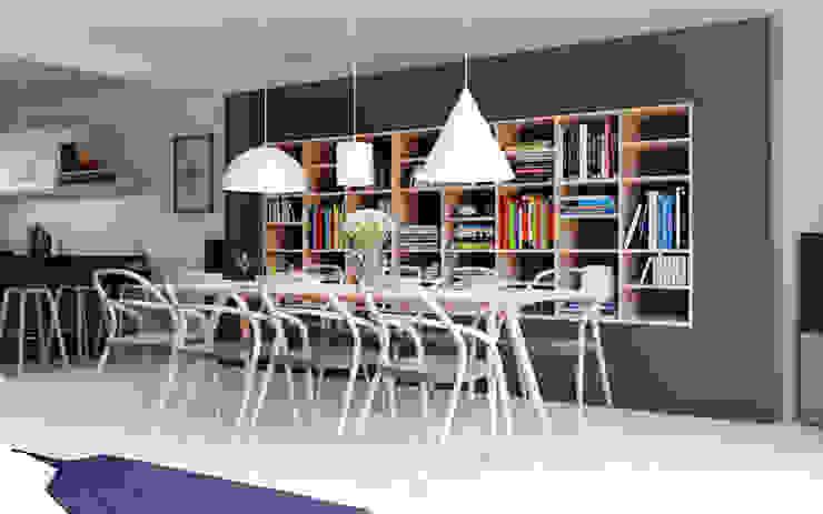 D&L mieszkanie: styl , w kategorii Salon zaprojektowany przez hanczar studio,Minimalistyczny
