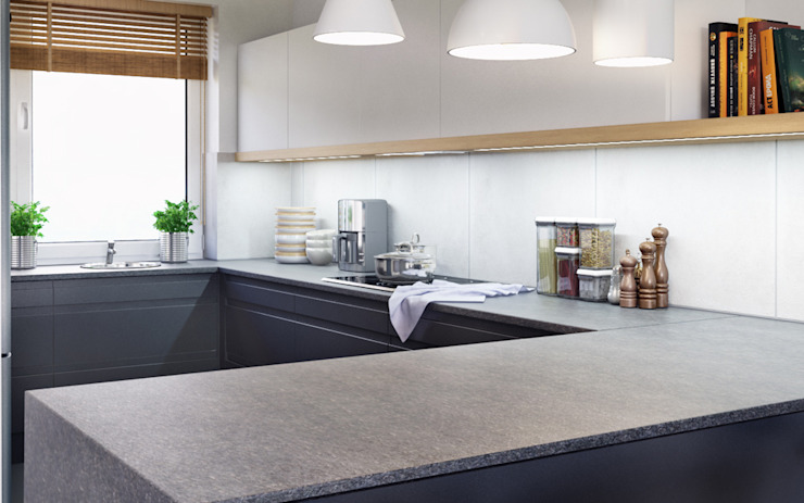 D&L mieszkanie Minimalistyczna kuchnia od hanczar studio Minimalistyczny