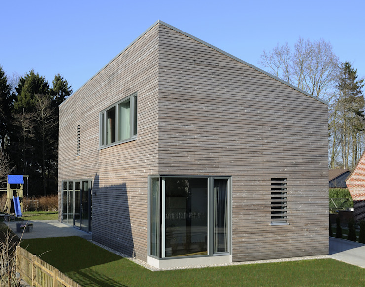 Ansicht Giebel Moderne Häuser von JEBENS SCHOOF ARCHITEKTEN Modern