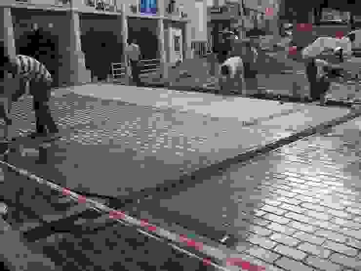 BAZALT KÜPTAŞ Jardines de estilo moderno