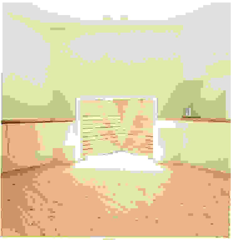 中村南一丁目住宅 ミニマルスタイルの 寝室 の 一級建築士事務所 艸の枕 ミニマル