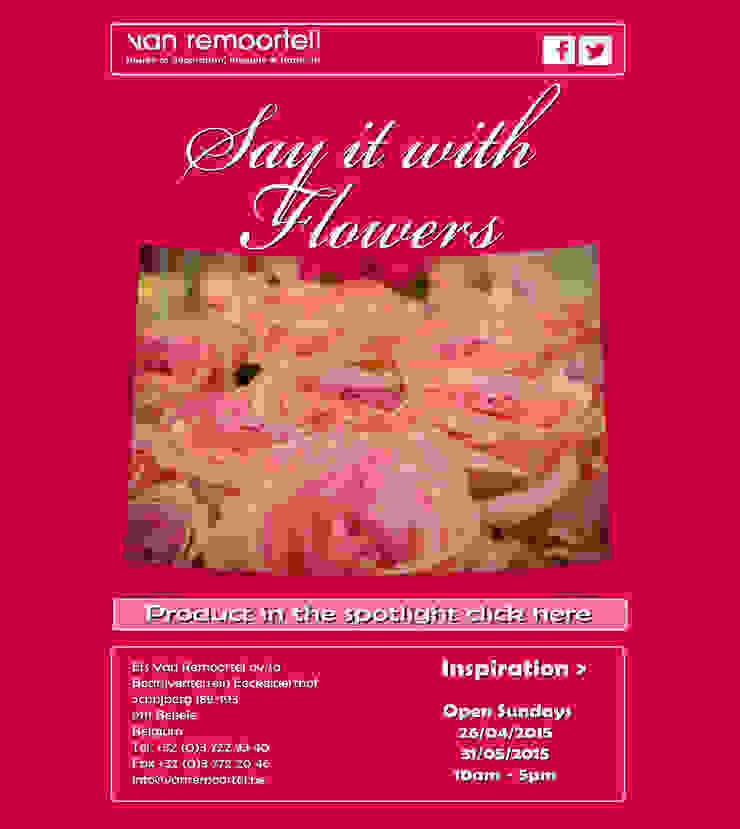 Say it with flowers van Groothandel in decoratie en lifestyle artikelen Landelijk