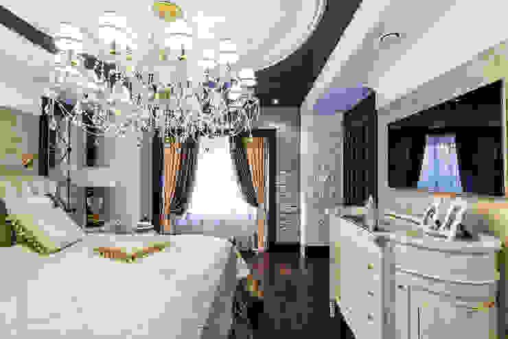 Интерьер загородного дома в стиле Эклектика Belimov-Gushchin Andrey Спальня в эклектичном стиле